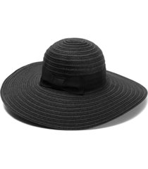 inc mixed-braid wide-band floppy hat, created for macy's