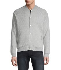 sovereign code men's princeton quilted fleece jacket - heather grey - size m