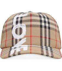 burberry printed baseball cap