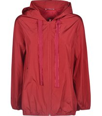 red valentino pleat detail hooded jacket