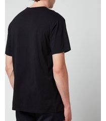 maison kitsuné men's tricolour fox patch classic pocket t-shirt - black - xxl