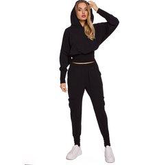spodnie dresowe-czarne(m-591)