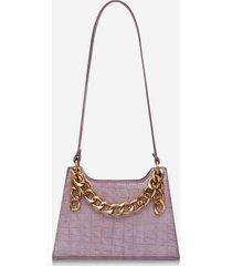 retro chain textured shoulder bag