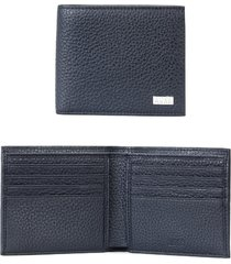 boss crosstown 8 card leather wallet in navy at nordstrom