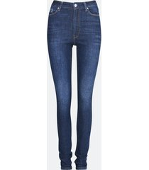 high waist hailey skinny jeans - mörkblå