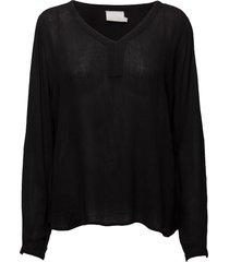 amber l/s blouse- min 2 blus långärmad svart kaffe