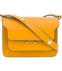 marni trunk multi-pocket shoulder bag - yellow