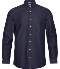 dobby shirt l/s overhemd casual blauw lindbergh