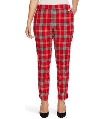 women's chaus plaid pull-on pants