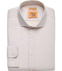 joe joseph abboud men's repreve® ivory floral slim fit dress shirt - size: 17 32/33