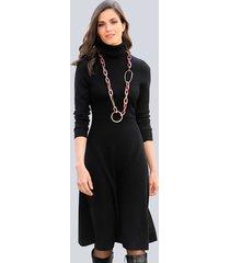 gebreide jurk alba moda zwart