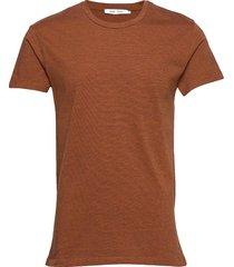 kronos o-n stripe 273 t-shirts short-sleeved brun samsøe samsøe