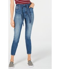 vanilla star belted ankle jeans