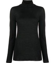 roberto collina slim-fit roll neck sweatshirt - black