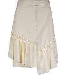 max mara asymmetric hem skirt