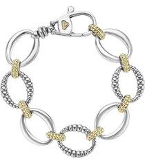 women's lagos 'link' 2-tone bracelet