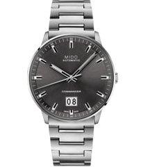 men's mido commander ii skeleton bracelet watch, 42mm