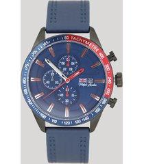 relógio cronógrafo philiph london masculino - pl80062612m azul marinho