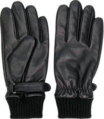 karl lagerfeld touch-strap gloves - black