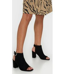 nly shoes open toe city heel high heel svart