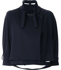 gloria coelho raglan sleeves coat - blue