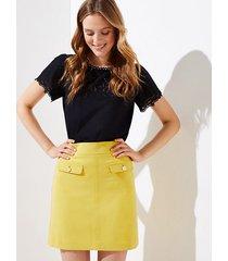 loft flap pocket shift skirt