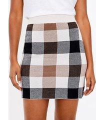 loft plaid mini sweater skirt