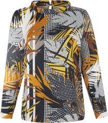 blouse met afstaande col van emilia lay multicolour