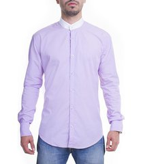 camisa frank pierce neru lila slim fit - lila