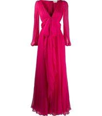 alexander mcqueen bow detail evening gown - pink