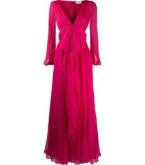 alexander mcqueen bow detail evening gown - pink