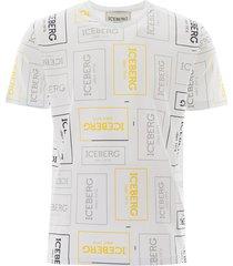 iceberg logo prints t-shirt