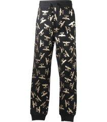 cotton sweatpants with golden logo detail