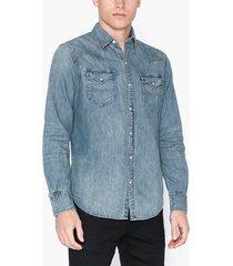 polo ralph lauren icon western shirt skjortor blue