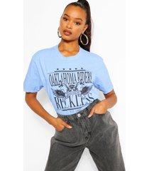 oklahoma printed washed t-shirt, blue