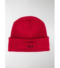 424 logo patch beanie hat
