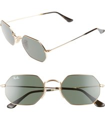 women's ray-ban icons 53mm sunglasses - gold/ green