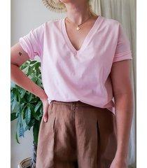 bawełniana koszulka t-shirt, jasny róż