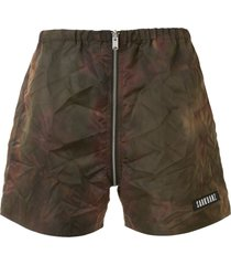 sankuanz reversible track shorts - green