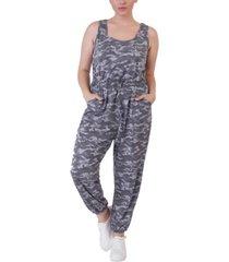 black tape plus size camo-print jumpsuit