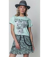 colourful rebel 11213 t-shirt maud zebra green -