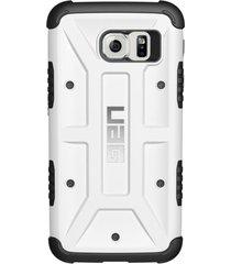 estuche carcasa urban armor gear uag modelo navigator para samsung galaxy s6 edge- blanco