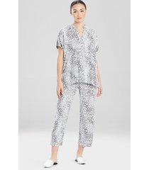 misty leopard challis sleepwear pajamas & loungewear, women's, size l, n natori
