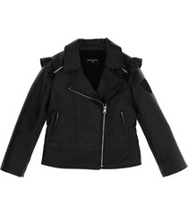 monnalisa biker jacket w/strass