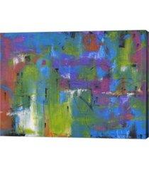 """metaverse quartiere colorato by tebo marzari canvas art, 26.5"""" x 20"""""""