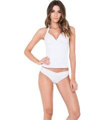 tankini vestido de baño blanco kibys