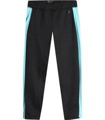 legging deportivo largo con contraste agua color azul, talla xs