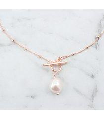 choker łańcuszek z kulkami i perłą