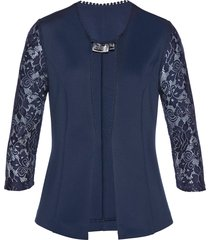 blazer in jersey con pizzo (blu) - bpc selection premium