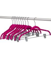homeit velvet hangers with clips for skirts and pants, 10 pack